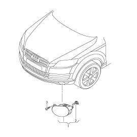 Фара противотуманная (ПТФ) левая Audi Q7 4L (2006-2015)