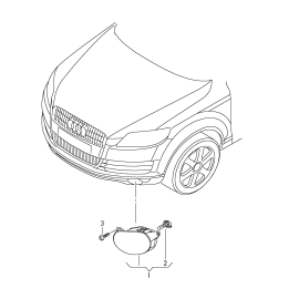 Фара противотуманная (ПТФ) правая Audi Q7 4L (2006-2015)