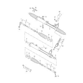Пыльник рейки рулевой Audi Q7 4L (2006-2015)
