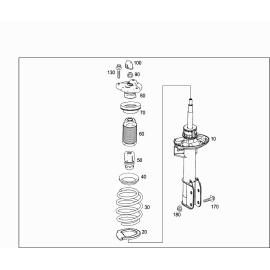 Отбойник амортизатора переднего Mercedes GLK-klass X204 (2008-2015)