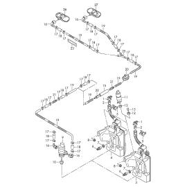 Насос омывателя Audi A3 8P (2003-2013)