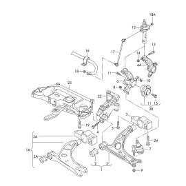 Рычаг передний правый в сборе Audi A3 8P (2003-2013)