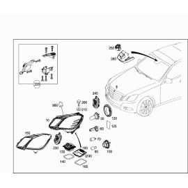Фонарь дневного освещения правый Mercedes E-klass W212 (2009-2016)