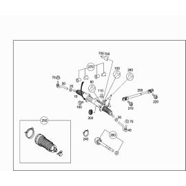 Рейка рулевая в сборе Mercedes ML-klass W164 (2005-2011)