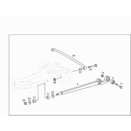 Рычаг задней подвески поперечный Mercedes G-klass W463 (1999-н.в.)