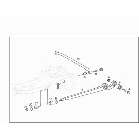 Рычаг задней подвески продольный Mercedes G-klass W463 (1999-н.в.)