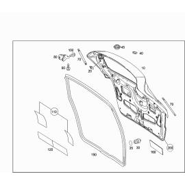Амортизатор крышки багажника Mercedes B-klass W245 (2005-2011)