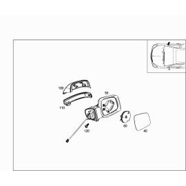 Повторитель поворота правый (зеркало) Mercedes B-klass W245 (2008-2011)