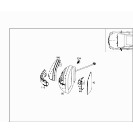 Элемент зеркала левый Mercedes B-klass W245 (2008-2011)