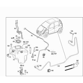 Бачок омывателя Mercedes A-klass W169 (2004-2012)
