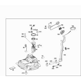 Насос топливный в сборе в баке Mercedes A-klass W169 (2004-2012)
