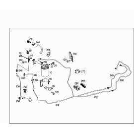 Фильтр топливный с влагоотделителем, штекер 5 контактов Mercedes A-klass W176 (2013-н.в.)
