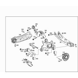 Рычаг задней подвески продольный правый Mercedes A-klass W176 (2013-н.в.)