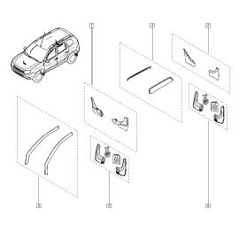 Брызговики передние (к-т) Renault Duster (2011-н.в.)