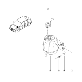 Бачок расширительный Renault Sandero 1 (2009-2014)