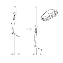 Пыльник и отбойник амортизатора заднего Renault Sandero 1 (2009-2014)