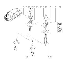 Пыльник и отбойник амортизатора переднего Renault Sandero 1 (2009-2014)
