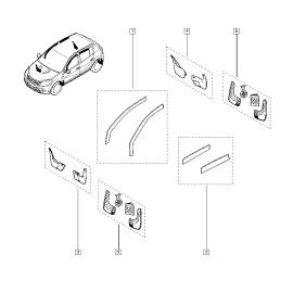 Брызговики передние (к-т) Renault Sandero 1 (2009-2014)