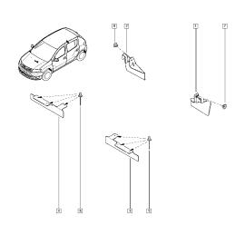 Брызговики передние (к-т) Renault Sandero 2 (2014-н.в.)