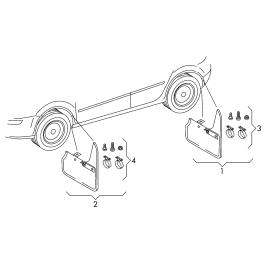 Брызговики передние (к-т) Volkswagen Tiguan 1 (2007-2016)
