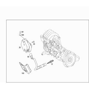 Провод высоковольтный третьего цилиндра Mercedes A-klass W169 (2004-2012)