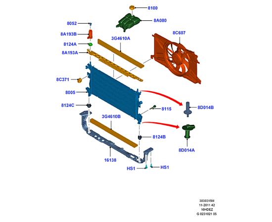 Бачок расширительный Ford Kuga 2 (2013-н.в.)