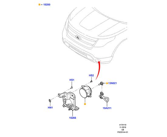 Фара противотуманная (ПТФ) Ford Explorer 5 (2011-н.в.)