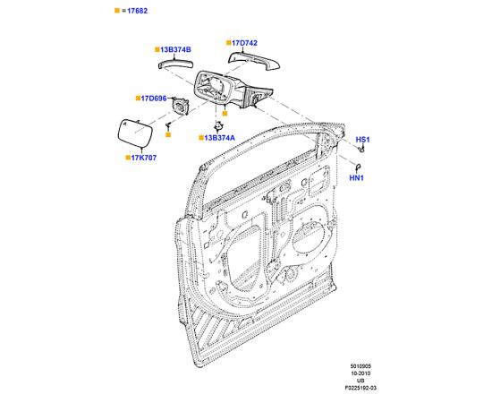 Элемент зеркала левый Ford Explorer 5 (2011-н.в.)