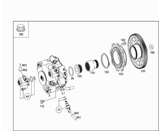Насос топливный высокого давления Mercedes GLK-klass X204 (2008-2015)