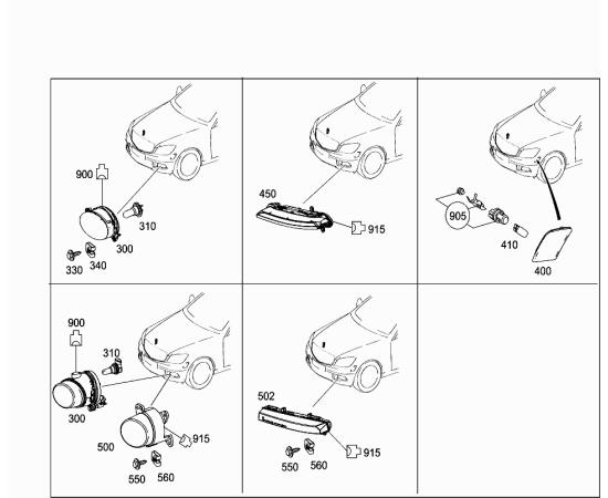 Фара противотуманная (ПТФ) правая Mercedes GLK-klass X204 (2008-2015)