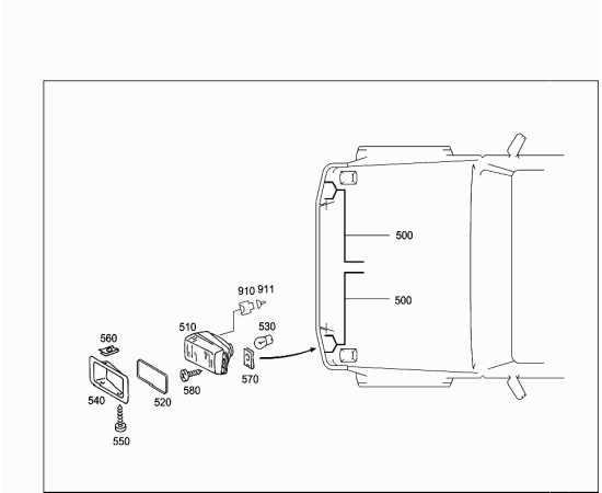 Фара противотуманная (ПТФ) правая Mercedes G-klass W463 (2008-2012)