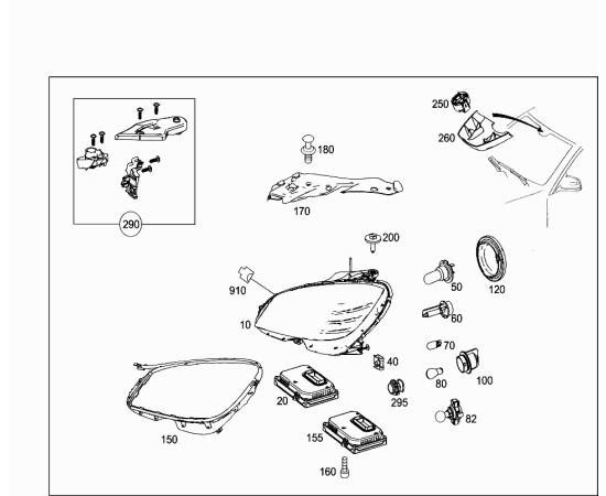 Повторитель поворота левый (зеркало) Mercedes C-klass W204 (2007-2015)