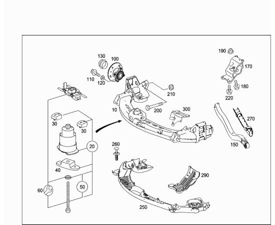Сайлентблок задней балки центральный Mercedes B-klass W245 (2005-2011)