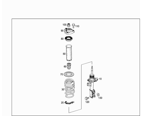 Подшипник опоры переднего амортизатора Mercedes B-klass W246 (2011-н.в.)