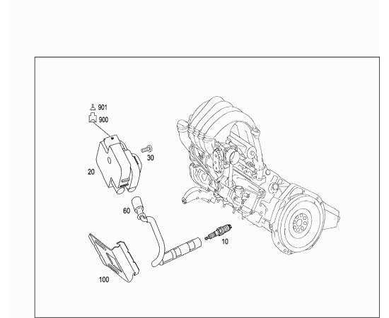 Провод высоковольтный второго цилиндра Mercedes A-klass W169 (2004-2012)