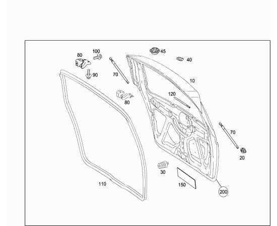 Амортизатор крышки багажника Mercedes A-klass W169 (2004-2012)