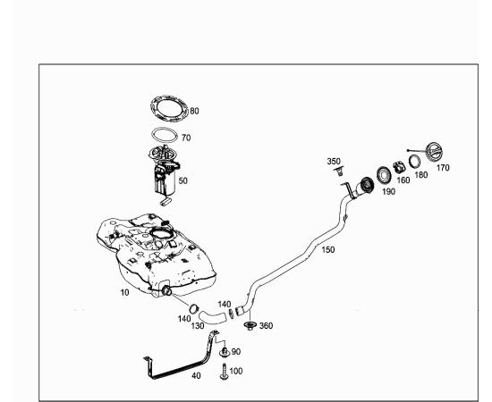 Подающий модуль с датчиком уровня топлива Mercedes A-klass W176 (2013-н.в.)