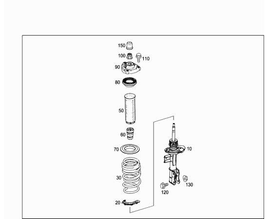 Отбойник амортизатора переднего Mercedes A-klass W176 (2013-н.в.)