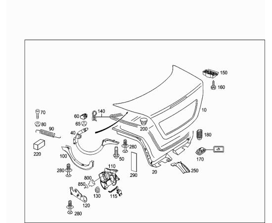 Крышка багажника Mercedes E-klass W211 (2006-2009)